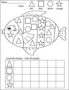 Ocean Animal Worksheet For Kids Crafts And Worksheets For Preschool Toddler And Kinde Kindergarten Math Activities Graphing Activities Kindergarten Math Free