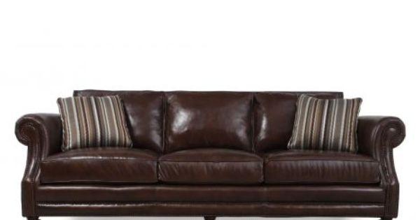 Bht 6717leo Bernhardt Brae Leather Sofa Mathis Brothers