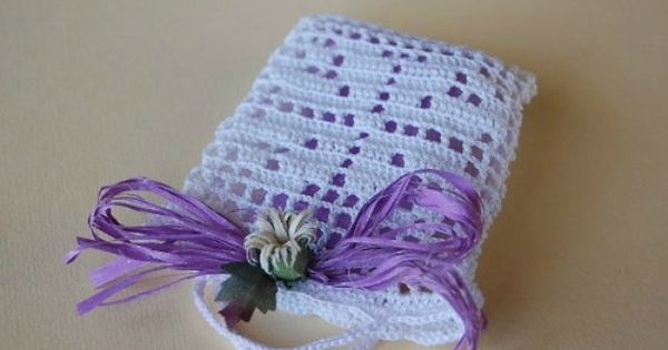 Sacchettino quadrifoglio Crochet, Filet crochet and Filo