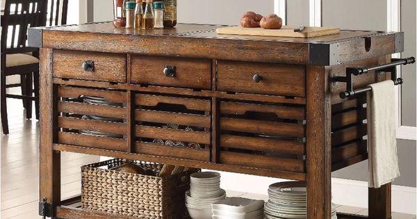 Belfield Wood Metal Kitchen Cart Kitchen Cart Kitchen Design Kitchen Remodel
