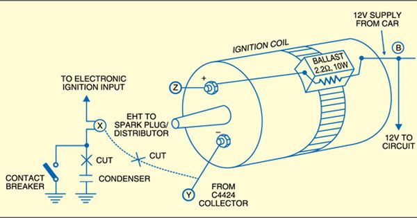 Electronic Ignition For Old Cars Detailed Circuit Diagram Available Electrical Diagram Ignite Ignition Coil