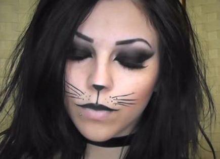 10 Fierce Halloween Cat Makeup Ideas