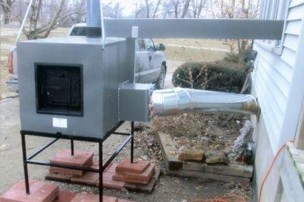 Lil House Outside Wood Heater Wood Heater Wood Furnace Outdoor Wood Furnace