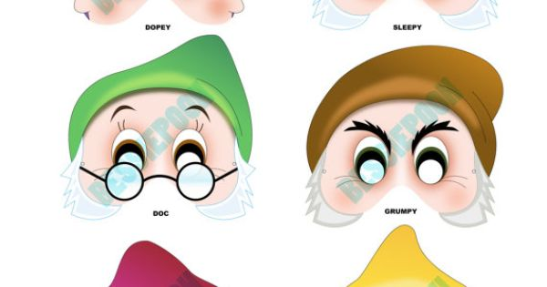 cute photo booth ideas - DISNEY PARTY Printable Mask Collection by BessiePooh