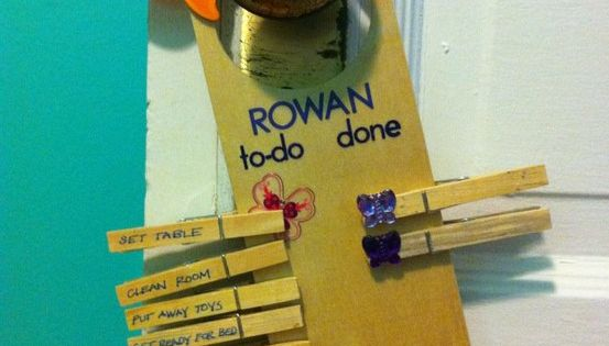 Great idea for kid chore list!