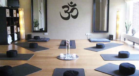 large om symbol yoga decal for living room dorm by zestygraphics 3800