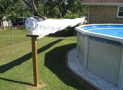 Diy rack pool cover cool pool accessories pinterest diy rack backyard and decking - Cool pool covers ...