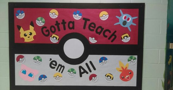 Vpk Classroom Ideas : My pokemon board for welcoming new students to vpk