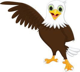 Cute Eagle Cartoon Image Adobe Stock Eagle Cartoon Cartoon Drawings Interesting Drawings