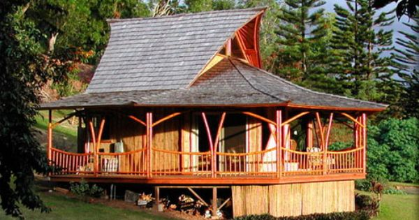 Nature Friendly Bamboo House Design: Bamboo House Idea Simple Bamboo House Design
