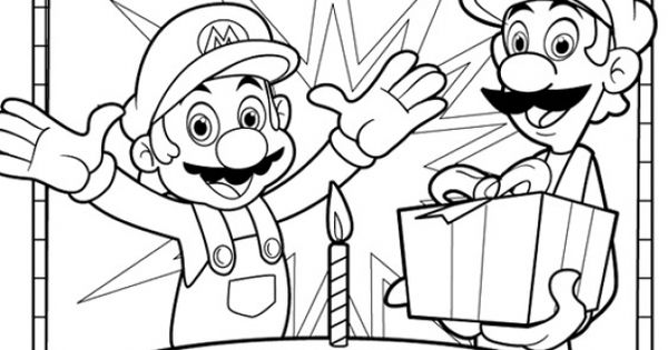 Mario | Educational Fun Kids Coloring Pages and Preschool ...