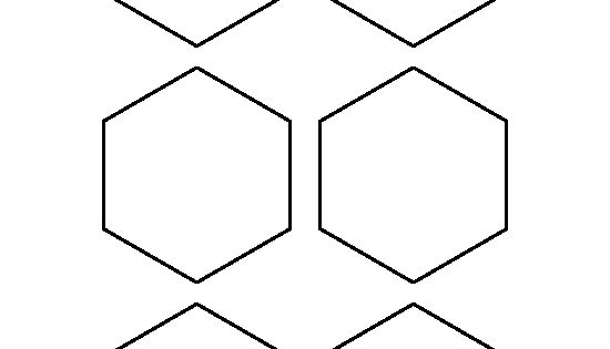 3 inch hexagon template - 3 inch hexagon pattern use the printable outline for