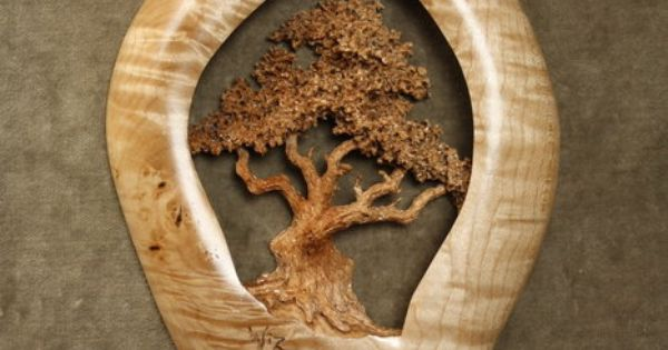 Oak tree wood carving in maple burl by wiz lumberjocks