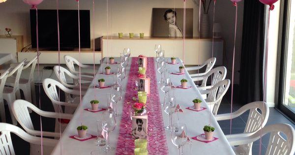Voorbeeld voor het versieren van een tafel voor de communie van een meisje rondom communie - Deco slaapkamer baby meisje ...