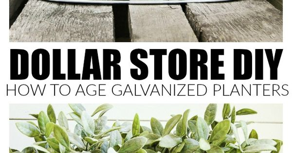 How To Easily Age Inexpensive Galvanized Planters 640 x 480