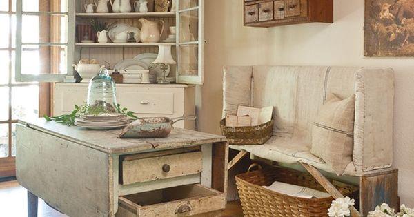 Farmhouse Decorating Ideas Pinterest: Old Farmhouse Kitchen Area...