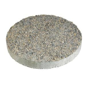 Anchor 16 In X 16 In Round Exposed Aggregate Gray Concrete Step Stone 12102340 The Home Depot Patio Stones Round Concrete Stepping Stones Round Stepping Stones
