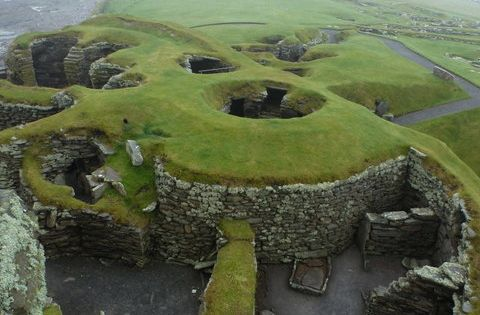#Jarlshof, Shetland Islands, Scotland - Archaeological site represents over 4,000 years of