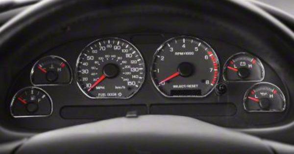Modern Billet Chrome Gauge Ring Bezels 94 04 All Mustang Interior Mustang New Edge Mustang