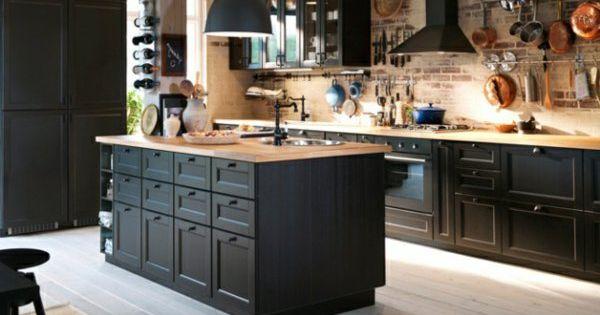 La cuisine bois et noir c 39 est le chic sobre raffin ki - Idee deco cuisine vintage ...