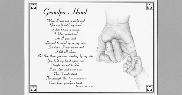 Best Grandfather Poem | grandpa s hand the same poem as daddy