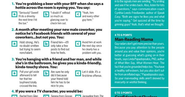 Cosmo Quiz - March 2010 | Cosmo Quizzes | Pinterest | Quizes