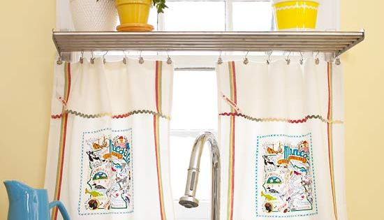 diy curtains ideas | DIY Kitchen Window Treatment Ideas