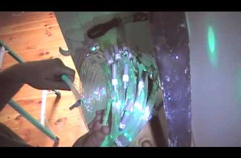 Fiber Optic Star Ceiling Installation Video In Drywall For