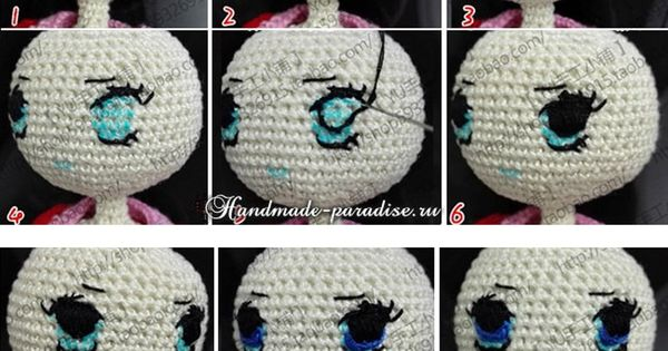 Embroidery Amigurumi Eyes - Russian Phototutorial here ...