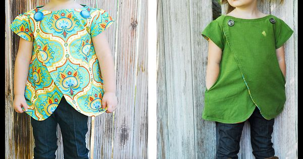 Lucy Tunic Size 12m-6y | ShwinDesigns PDF pattern $9