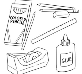10+ Red crayon clipart black and white info