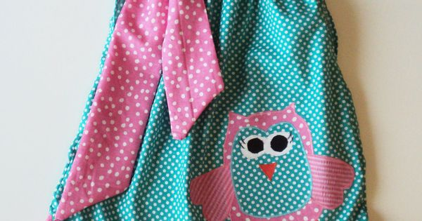 Custom Boutique OWL Pillowcase dress kid-stuff idea for Minnie