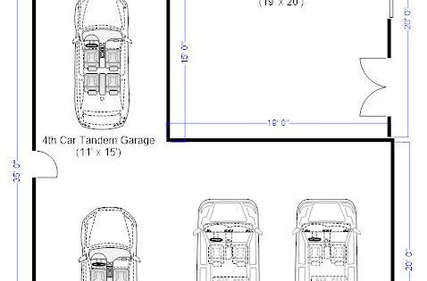 Car garage dimensions need remove tandem standard door for 4 car garage dimensions