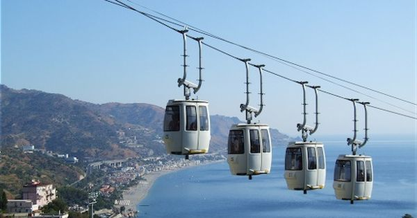 Cable car of Taormina - You can reach the seaside from the
