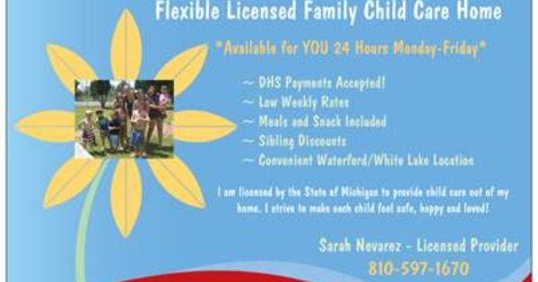 LittleGirlie Child care custom tear-sheet flyer | Custom flyers ...