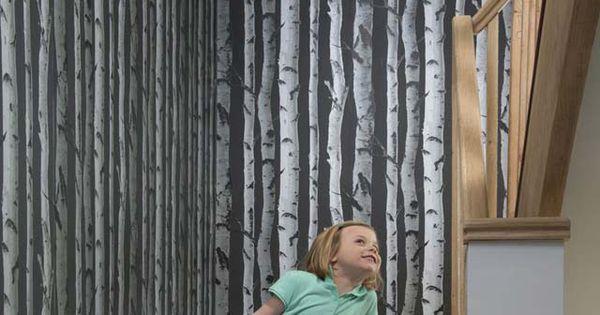 papier peint bouleau noir castorama deco pinterest. Black Bedroom Furniture Sets. Home Design Ideas
