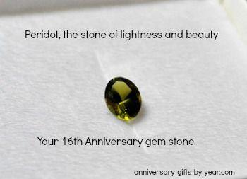 Peridot Is The 16th Anniversary Gemstone Anniversary Gifts 19th Anniversary Gifts Peridot