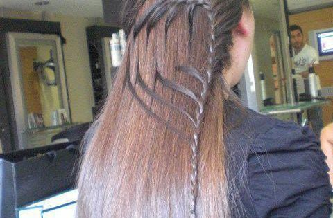 Long straight hairstyle with beautiful braid work hairstyle trend pmtslouisville paulmitchellschools hair