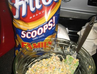 Appetizer: Cowboy Caviar! (or Mexicorn Dip). 2 cans Mexicorn, 1 can hot