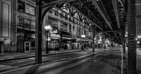 Simple Chicago Architecture Black And White Photography Now On