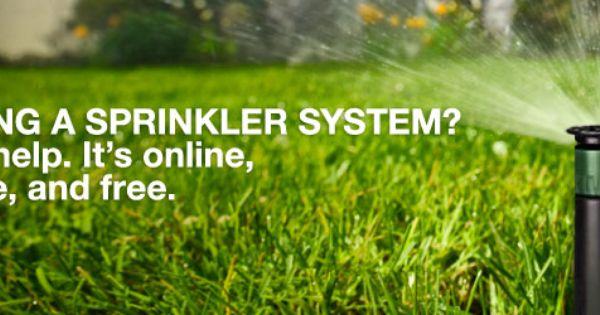 0rbit apparently has free sprinkler system design online Irrigation system design home depot
