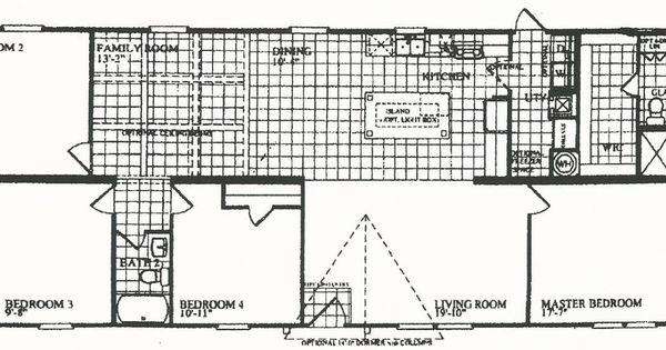 4 bedrooms 3 bathrooms mobile home 28 x 72 4 bedroom 2 for Southern energy floor plans