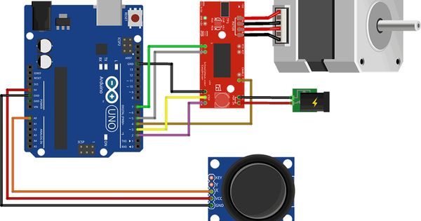 Arduino stepper easy driver joystick d print
