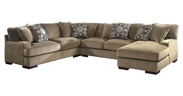 Grenada mocha sectional if i could have couch loveseat for Ashley mocha sectional with chaise