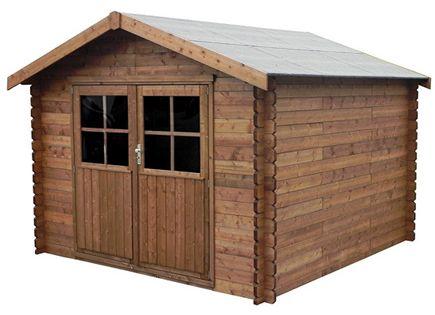 Caseta de madera de pino de 3 17 x 3 13 m montreal leroy - Caseta madera leroy ...