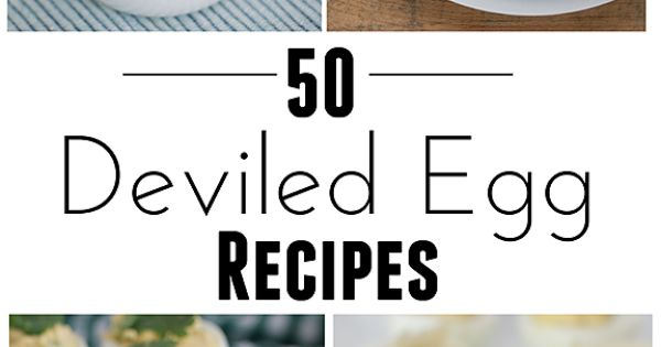 food ideas: 50 Deviled Egg Recipes. To use up those Easter morning