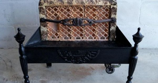 Antique Vintage Gas Radiant Fireplace Insert Heater Stove