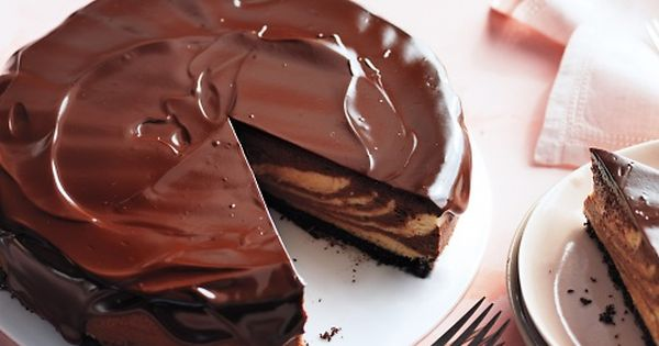 Chocolate-Peanut Butter Cheesecake with Chocolate Glaze - Martha Stewart's Best Chocolate Cake