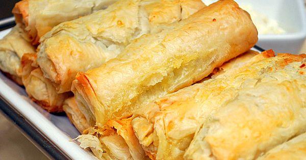 Spanakopita RollsA Greek Dish Which Is A Mixture Of