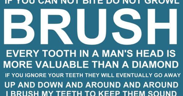 Brush Your Teeth Quotes: Brush Your Teeth Quotes And Sayings FREE PRINTABLE
